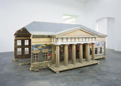 Simon Starling, Burn-Time, 2000. Installation image at neugerriemschneider, Berlin, 2001. Photo: Jens Ziehe Courtesy of the artist and neugerriemschneider