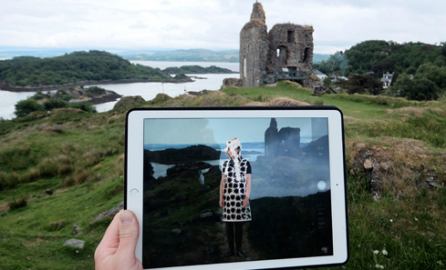 TALC - iPad and historic building