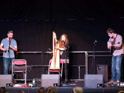 Mischa Macpherson Trio performing at the Cambridge Folk Festival 2014. (Photo by Charles Sturman)