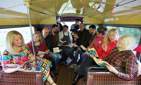 Book Week Scotland programme launch 2016, Authors including Christopher Brookmyre, Caro Ramsay, Graeme Macrae Burnet, Debi Gilori and William Letford urge Scots to discover where reading can take them this Book Week Scotland. photo: Rob McDougall