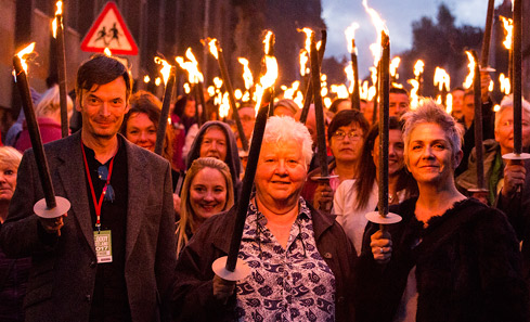 BloodyScotland Torch Light - photo Paul Reich