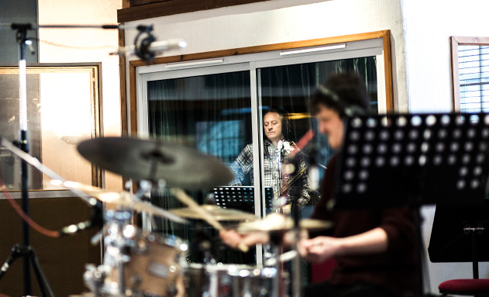 Square One in the studio
