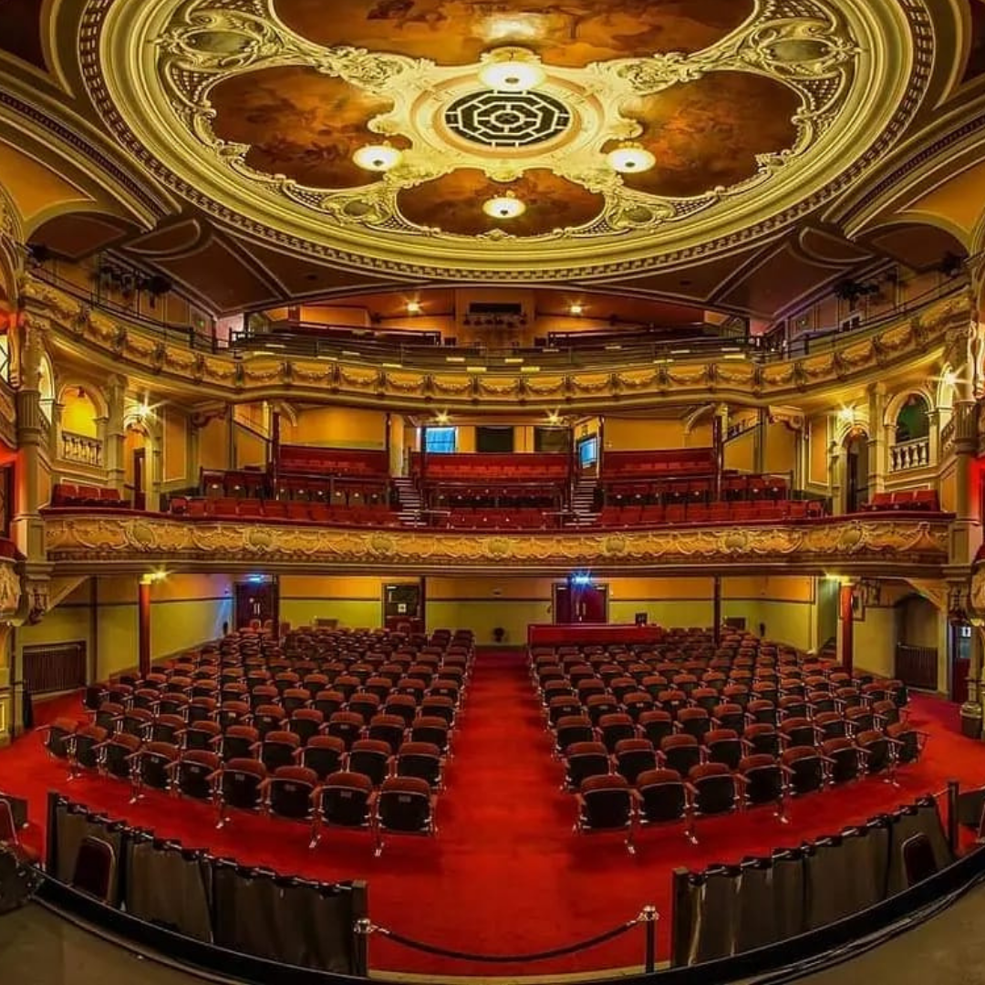 The view out into the grand auditorium of the Tivoli Theatre in Aberdeen