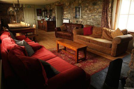 Sitting room in the main house at Moniack Mhor (photo: Nancy MacDonald)
