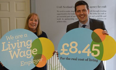 Craft Scotland becomes a Scottish Living Wage employer image