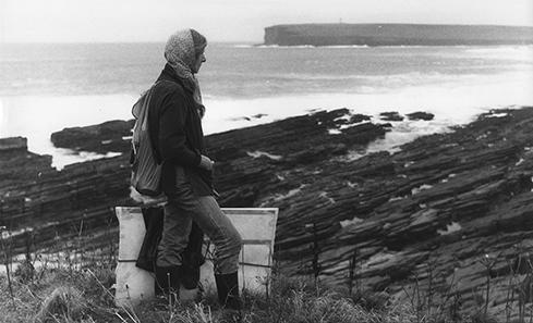 Frances Walker in Orkney in 1983