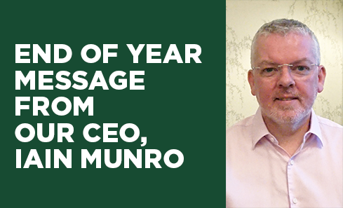 An end of year message from our CEO, Iain Munro image