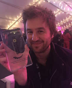 Mike Day with Hot Docs Best Emerging International Filmmaker Award