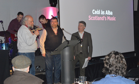 Bernhard Hanneken and Lisardo Lombardia attend the Gaelic Showcase at Celtic Connections