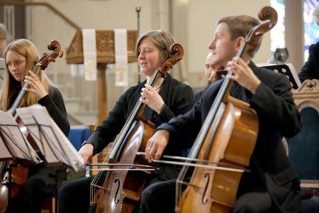 Jonathan Manson (Principal Cello) and Alison McGillivray (photo: David Barbour)