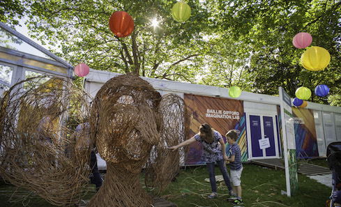 David Powell's BFG Willow Sculpture during Craft Scotland and Edinburgh International Book Festival's Meet Your Maker event 2016