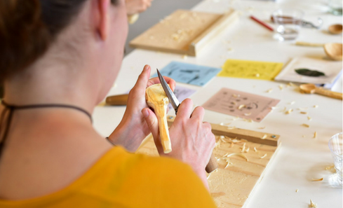 Hands-on workshops popular with visitors and makers alike at the Craft Scotland Summer Show image