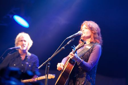 Rosanne Cash performing at the Cambridge Folk Festival 2014. (Photo by Charles Sturman)