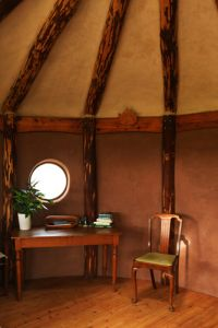 Inside the Straw Bale studio (photo: Nancy MacDonald)