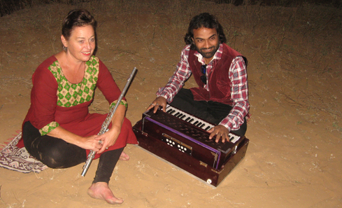Marion Kenny and Vinnie in Thar desert