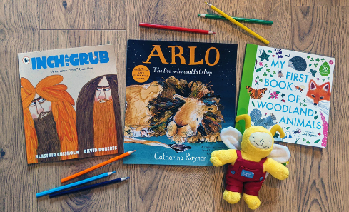 The three Edinburgh authors' books, nominated for the Bookbug Picture Book Prize 2022 Shortlist