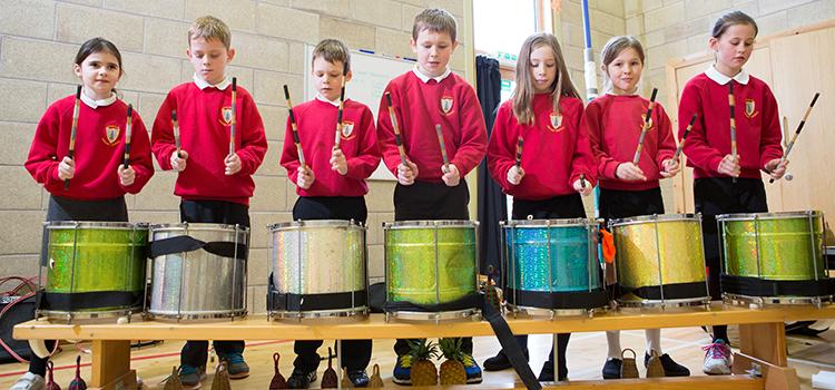 YMI Big Drum Adventure, Denholm Primary, by Alan MacAteer
