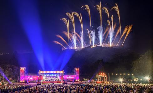 Festival Fireworks - photo Dave Stewart