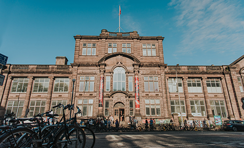 Photo of the outside of Summerhall on a sunny day