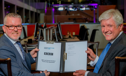 Iain Munro and Lord Hall at BBC Scotland