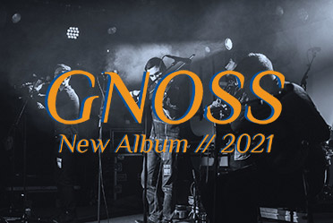 Photo of a band with text on top - Gnoss New Album 2021