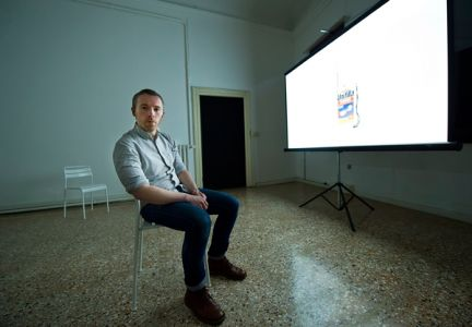 Duncan Campbell at Palazzo Pisani (photo: Marco Secchi / Getty Images)