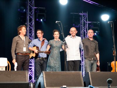 Julie Fowlis performing at the Cambridge Folk Festival 2014. (Photo by Charles Sturman)