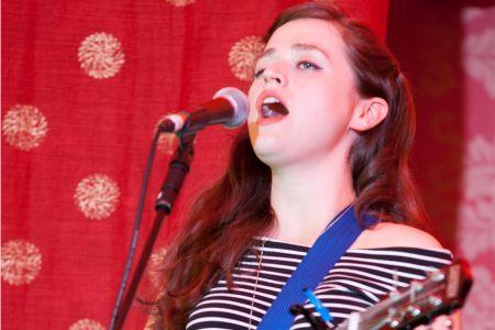 Siobhan Wilson performing at the Cambridge Folk Festival 2014. (Photo by Charles Sturman)