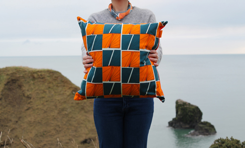Paper Houses Design - Signals cushion