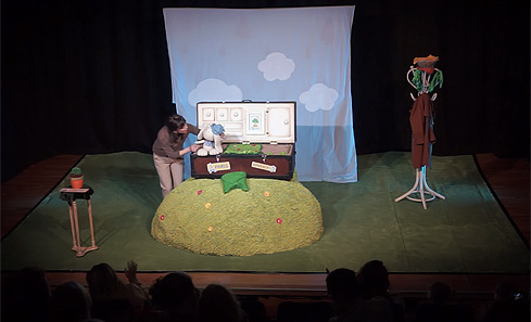 Tania and Lapin on stage
