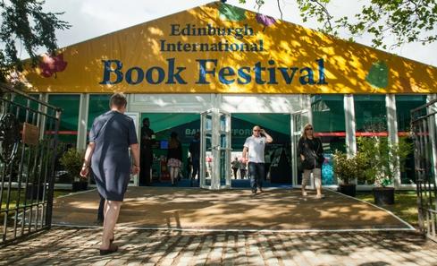 The entrance to Edinburgh International Book Festival