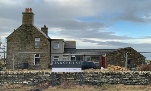 The exterior of the development on Linkshouse Orkney Arts Residency