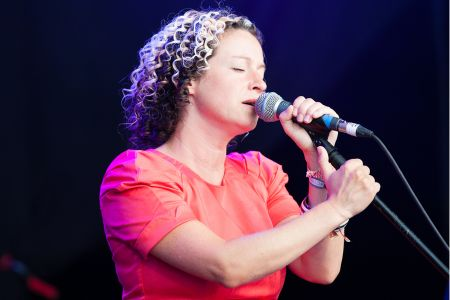 Kate Rusby performing at the Cambridge Folk Festival 2014. (Photo by Charles Sturman)