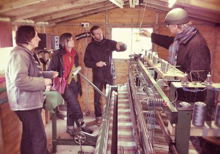 Spincycle visit to Skye Weavers