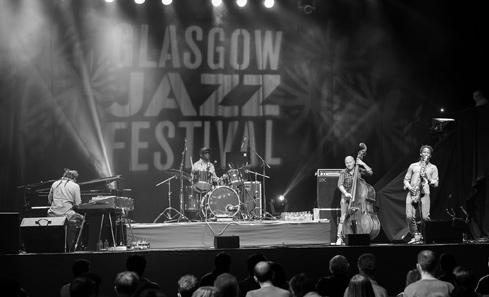 Tony Allen at Glasgow Jazz Festival - photo by Sean Purser